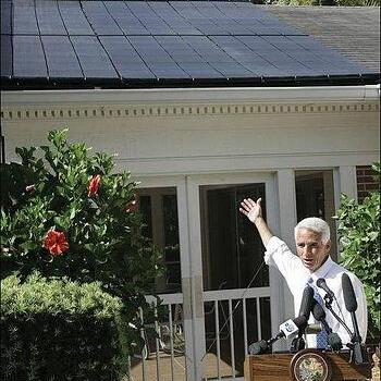 Solar at Florida Governor's Mansion